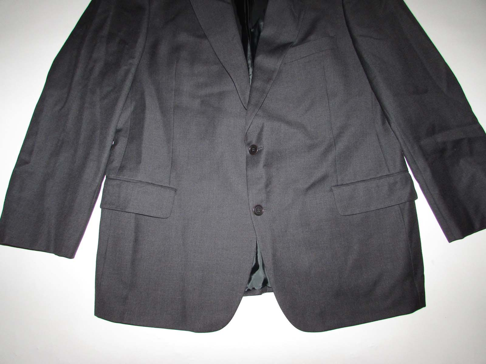 99c32172 Details about Ermenegildo Zegna Dalton Forsythe Men's Blazer Size 46  Regular Gray Wool Jacket